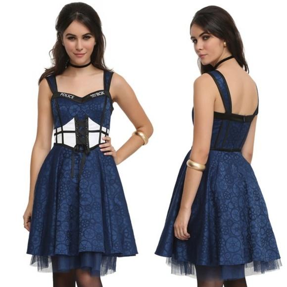 d0b45f823f3 Hot Topic Doctor Who TARDIS Corset Lace Dress